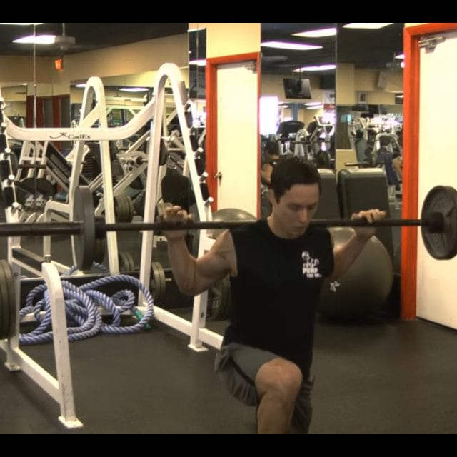 Barbell Lunges End