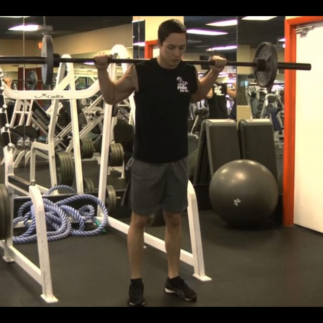 Barbell Lunges Start