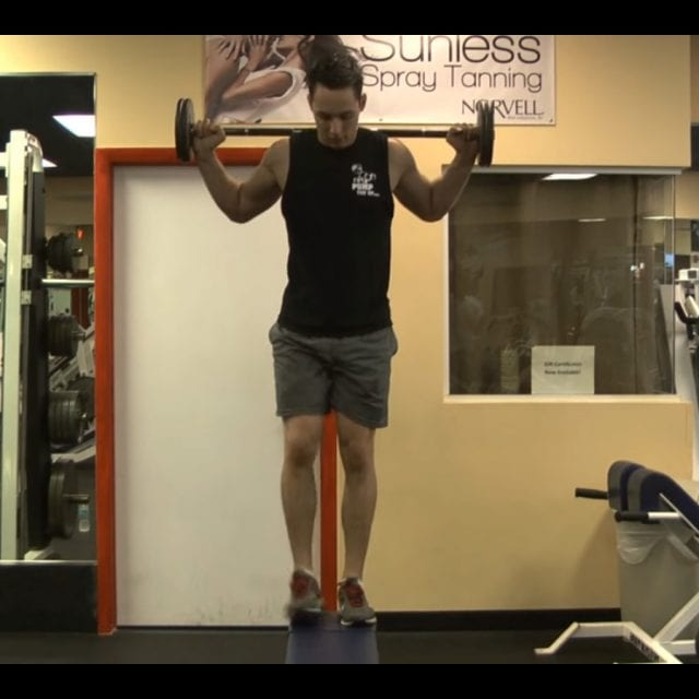 Barbell Step Ups End