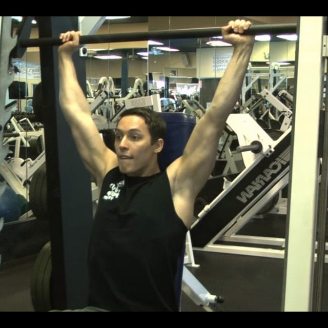 Behind the Neck Barbell Press End