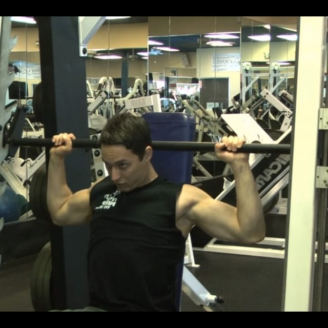 Behind the Neck Barbell Press Start