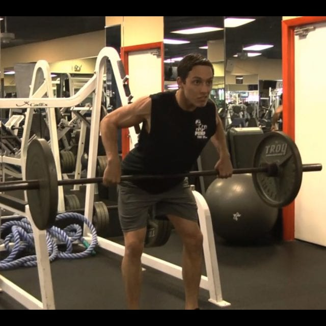 Bent Over Barbell Rows End