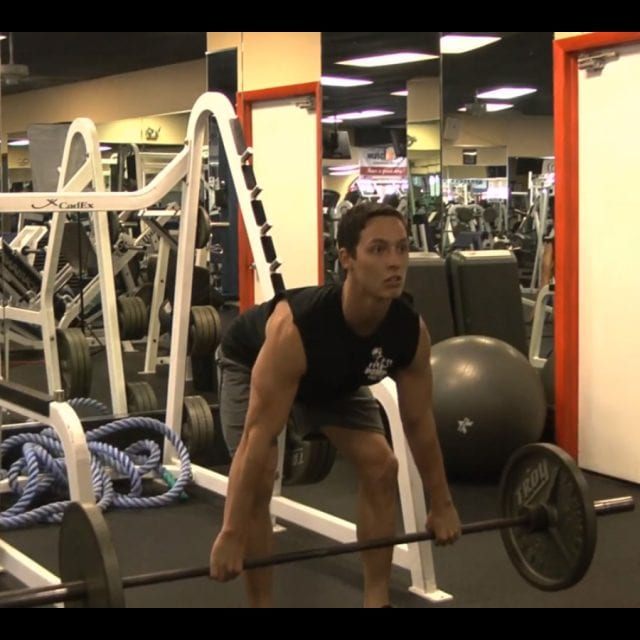 Bent Over Barbell Rows Start