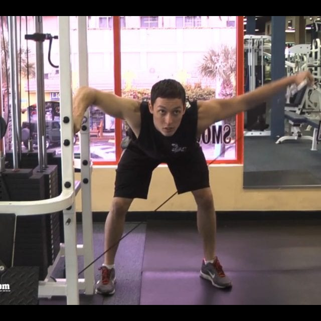 Bent Over Cable Lateral Raise End