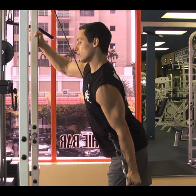 Cable One Arm Tricep Extension End