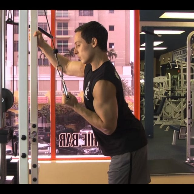 Cable One Arm Tricep Extension Start