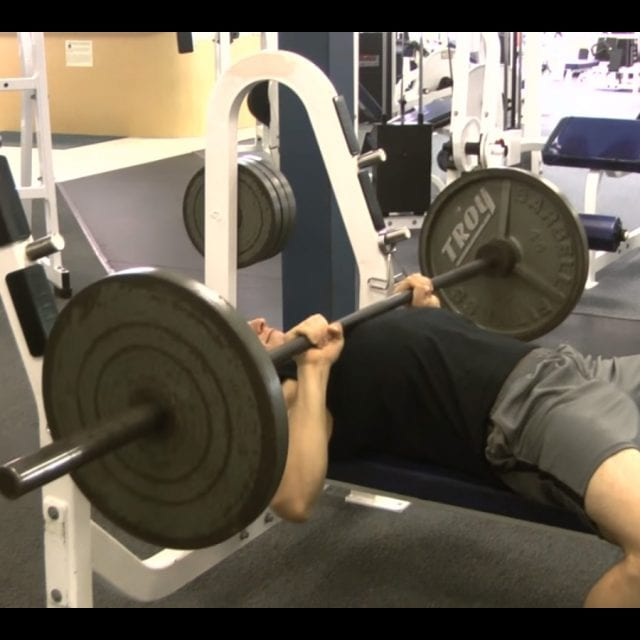 Close Grip Bench Press End