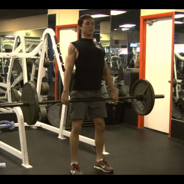 Conventional Barbell Deadlift End