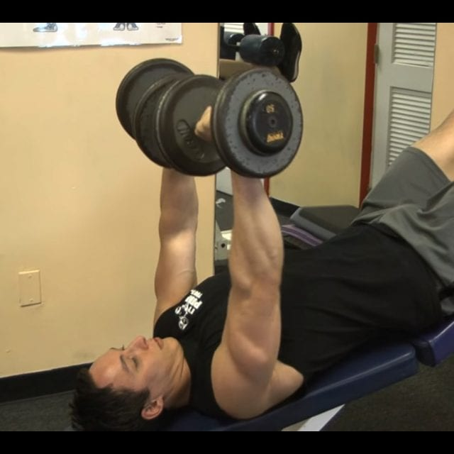 Decline Barbell Bench Press Start
