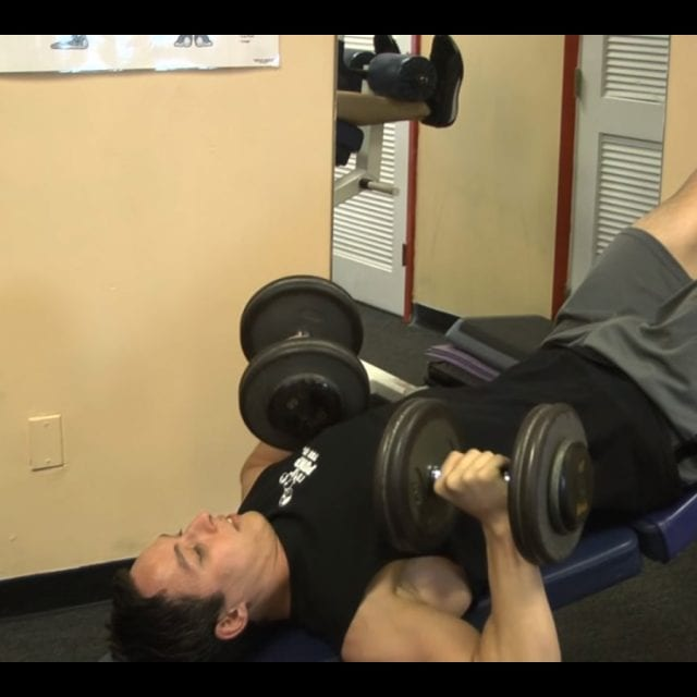 Decline Dumbbell Bench Press End