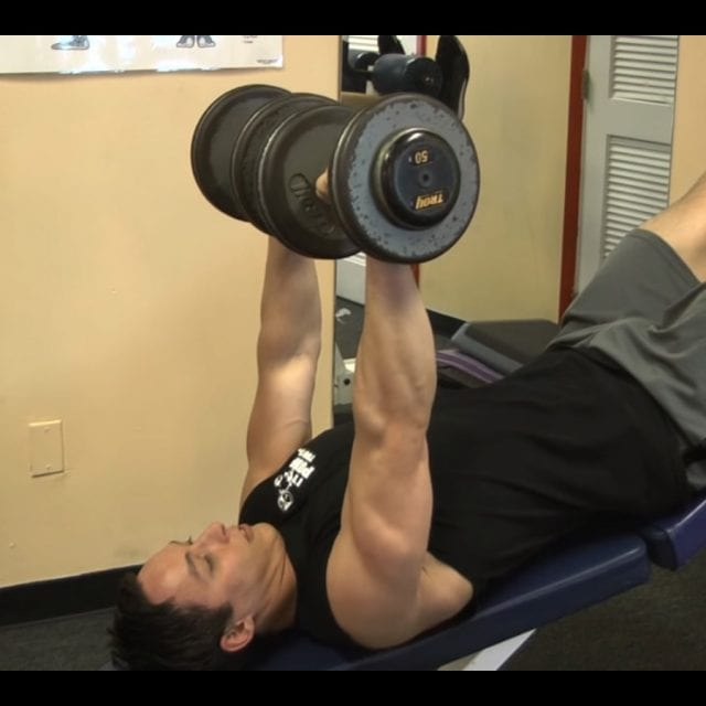 Decline Dumbbell Bench Press Start