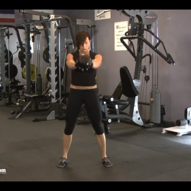 Double Hand Kettlebell Swing End
