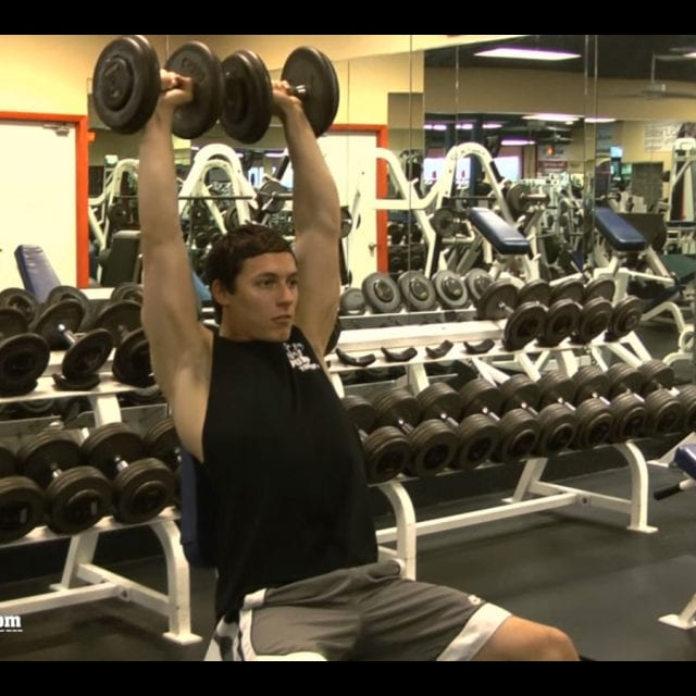 Dumbbell Shoulder Press End