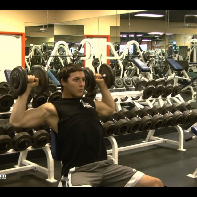 Dumbbell Shoulder Press Start