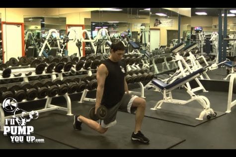 Dumbbell Lunges End