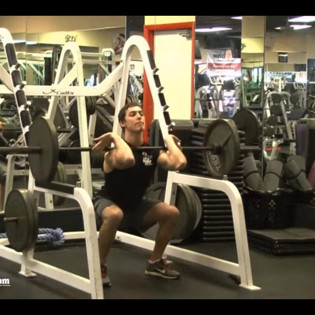 Front Barbell Half Squats End