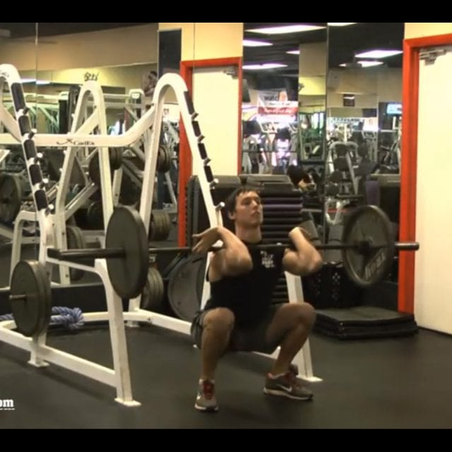 Front Barbell Squats End