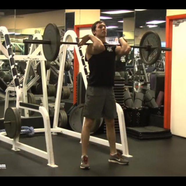 Front Barbell Squats Start
