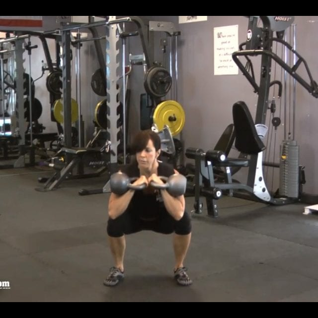 Front Squats with Kettlebells End