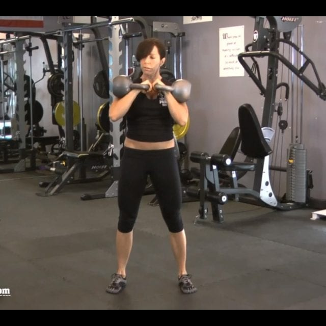 Front Squats with Kettlebells Start