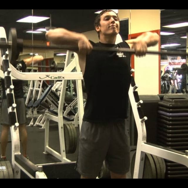 Heavy Barbell Upright Rows End