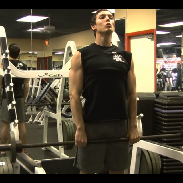 Heavy Barbell Upright Rows Start