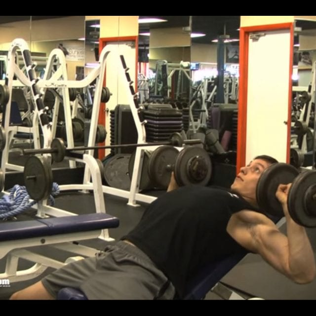 Incline Dumbell Press End