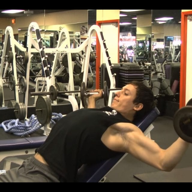 Incline Dumbell Fly End