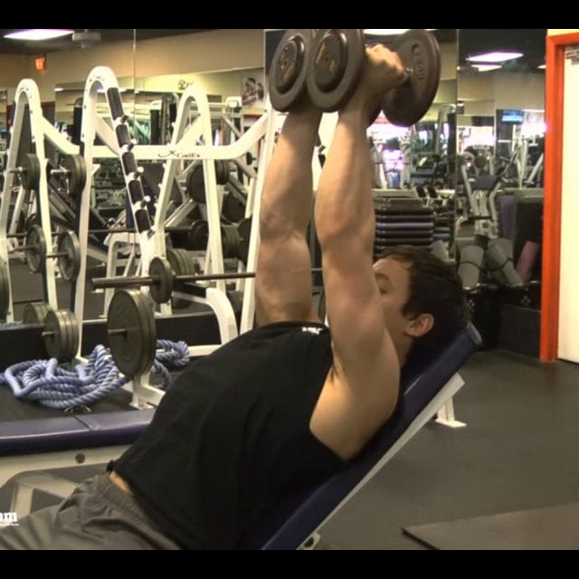 Incline Dumbell Fly Start