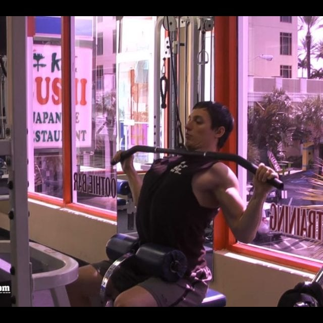 Lat Machine Pull Downs End