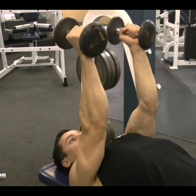 Lying Dumbbell Tricep Extension Start