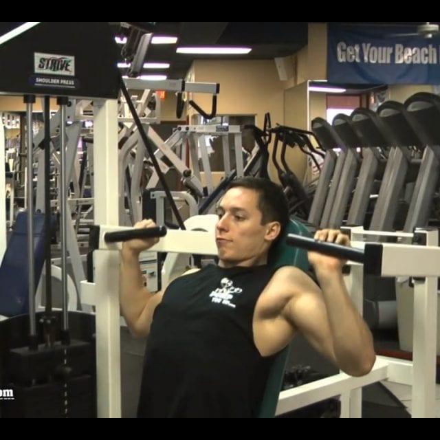 Machine Shoulder Press Start