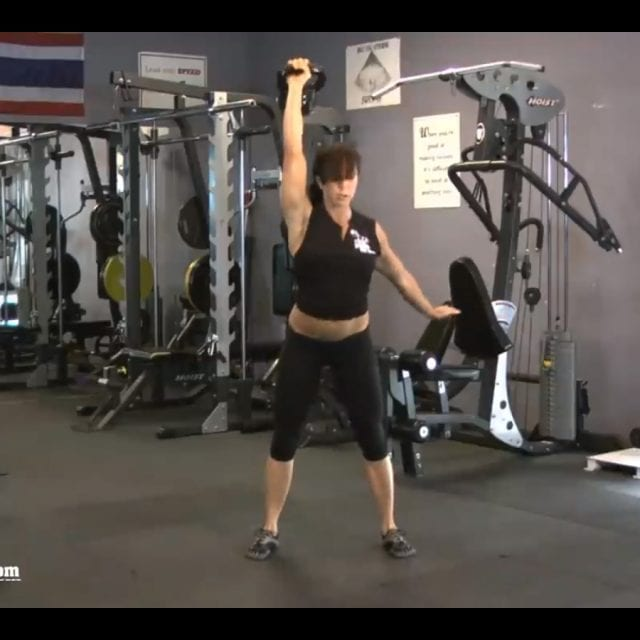 One Arm Kettlebell Snatch End