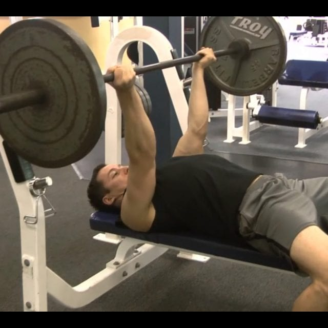 Reverse Grip Bench Press Start
