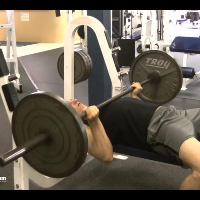 Reverse Grip Bench Press End