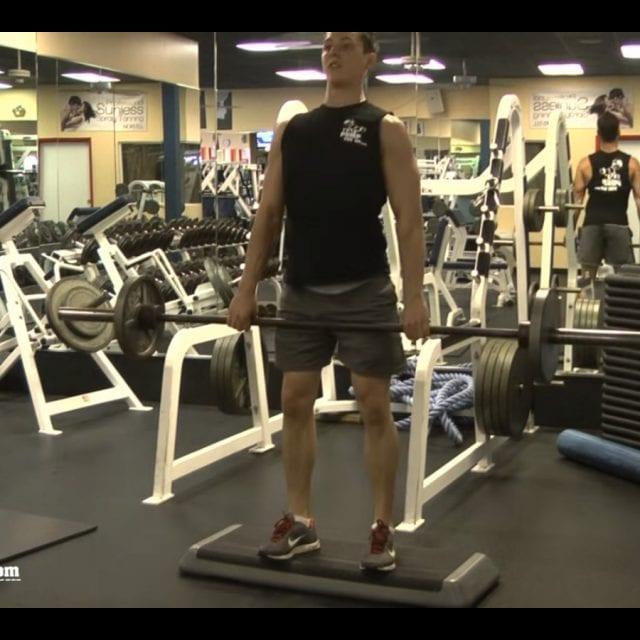 Straight-Leg Barbell Deadlifts End