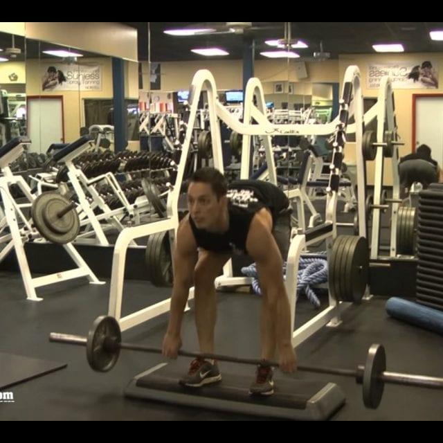Straight-Leg Barbell Deadlifts Start