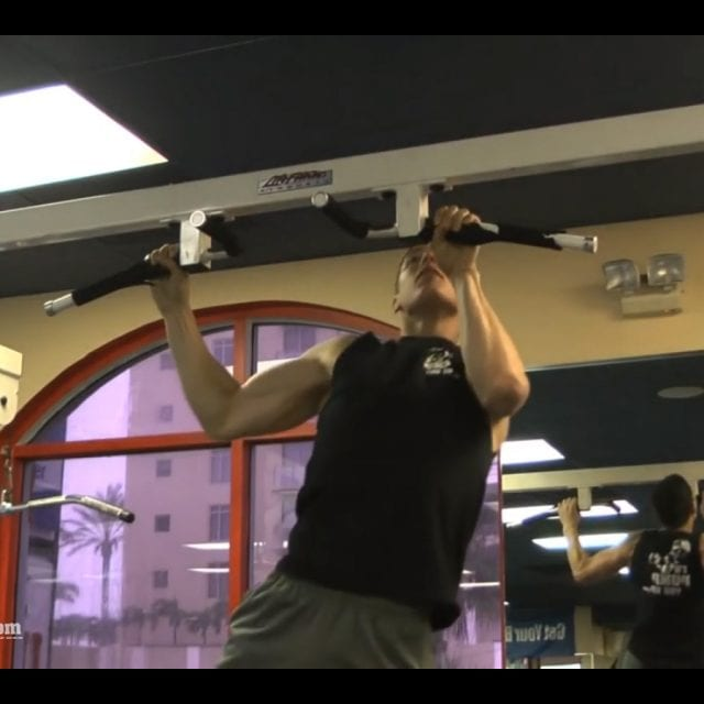 Side to Side Pull Ups End