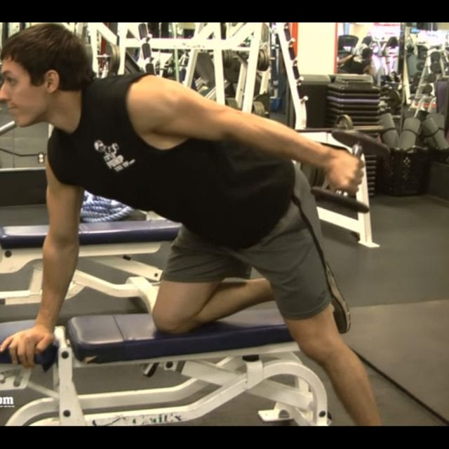 Tricep Dumbbell Kick Back End