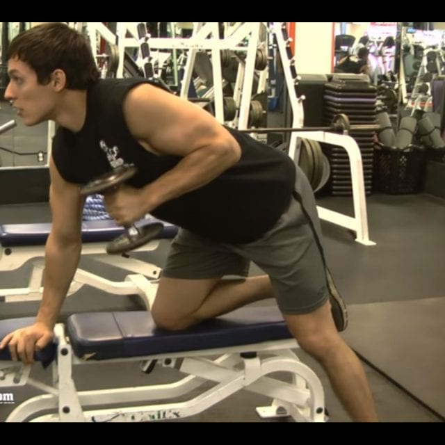 Tricep Dumbbell Kick Back Start