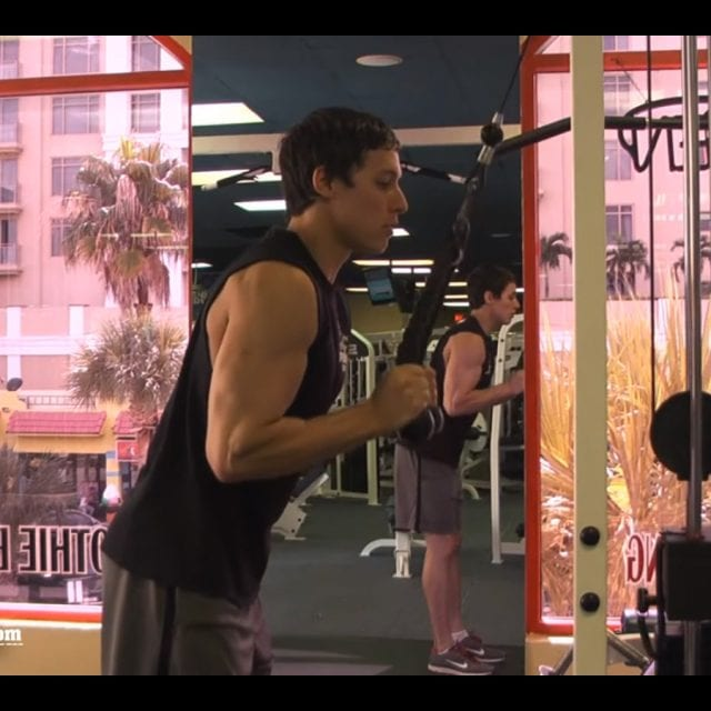 Tricep Pushdown-Rope Attachment Start