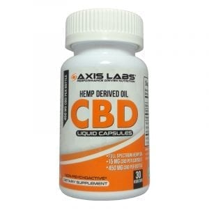 axis labs cbd capsules 30 count