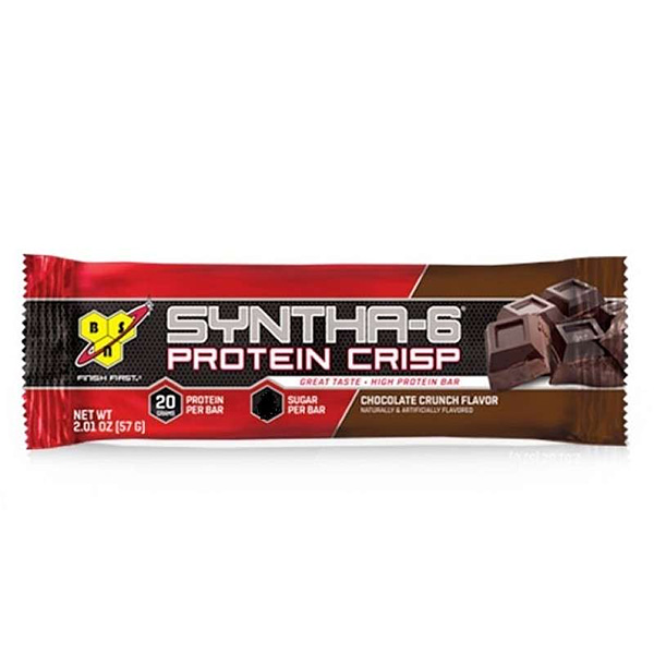 bsn syntha 6 protein crisp bars single