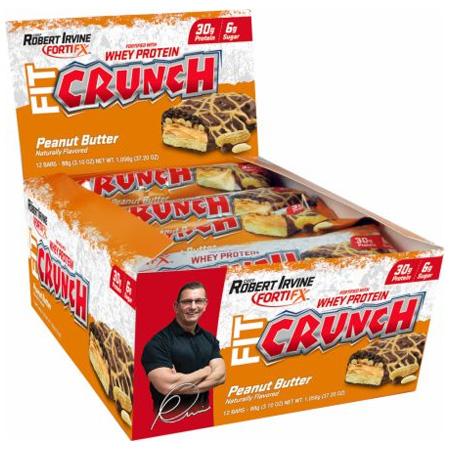 chef robert irvine fortfix fit crunch bars 12 bars