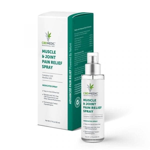 cbd medic muscle and joint pain relief spray