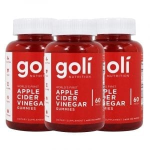 goli nutrition apple cider vinegar 3 pk