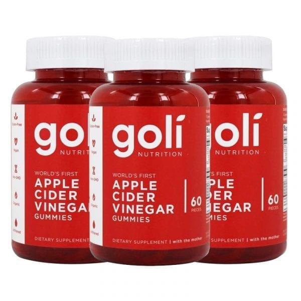goli nutrition apple cider vinegar 3 pk