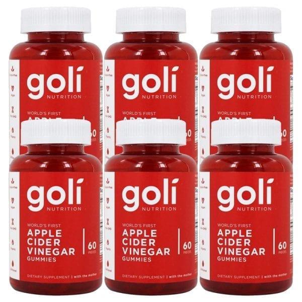 goli nutrition apple cider vinegar 6 pk