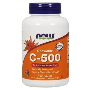 now c-500 chewables 100 tablets