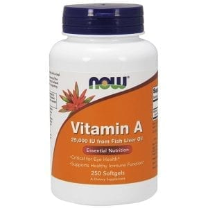 now vitamin a 250 softgels